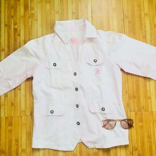 Beverly hills polo club pink denim jacket