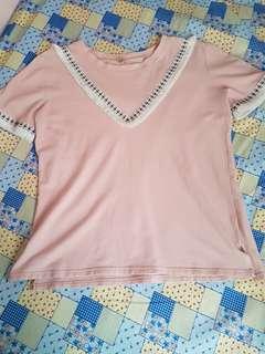 Blush pink boho top