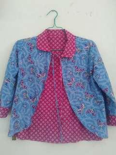 Blazer batik.bisa dibolak balik.kondisi ok. #preloved #blazer #batik #murmer