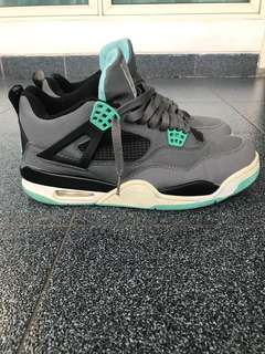 "#mausupreme Air jordan retro 4 ""green glow"" (premium quality)"