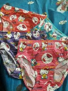 Hello kitty underwear Php 25/each