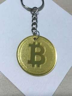 Bitcoin design keychain (acrylic)