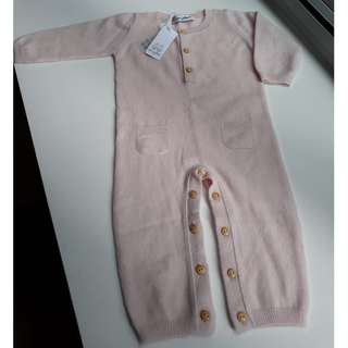 LES LUTINS Paris 100% Cashmere - New Baby Overall 0/6months - Made in France