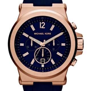 Michael Kors Men's Blue Rubber Strap MK Watch