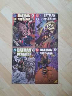 DC Dark Horse Comics Batman vs Predator III Complete 4 Issue Mini-Series Near Mint Condition First Print