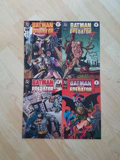 DC Dark Horse  Comics Batman vs Predator II Complete 4 Issue Mini-Series  Near Mint Condition