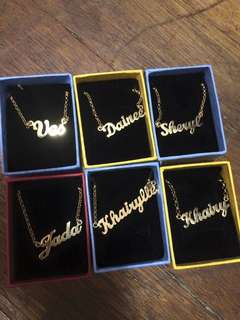 💎18k Personalized names with chain💎