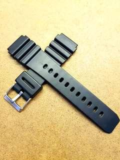 Mint 22mm/20mm Black Rubber Strap
