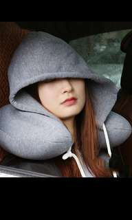 <PO> COMFY NECK PILLOW WITH HOODIE