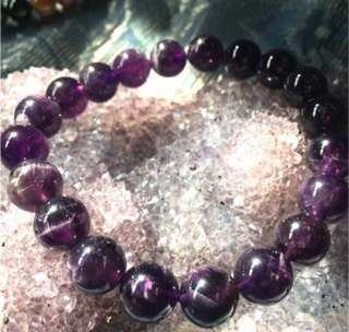 💝出清特價中~天然✨烏拉圭紫水晶手珠 約10mm