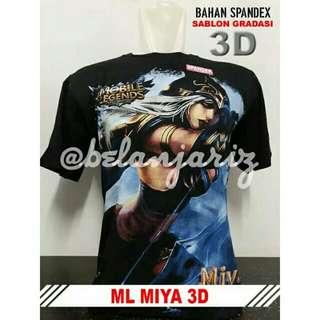 Kaos Distro 3D Mobile Legend Miya