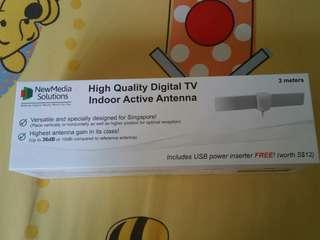 NewMedia Solutions Digital TV Indoor Active Antenna (3meters)