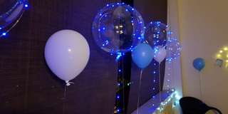 Helium balloon led