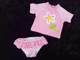 Baby Swimsuit with extra 2 Bikinis for girls (6-9months)