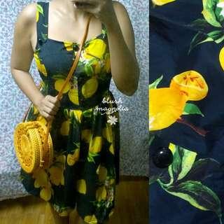 D&G Inspired Black Lemon Dress
