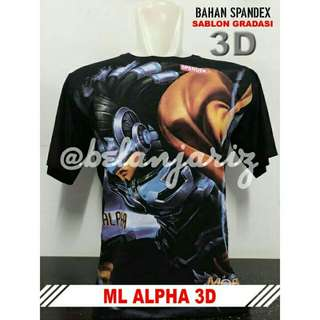 Kaos Distro 3D Mobile Legend Alpha