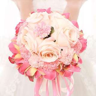 💞RENTAL💞Wedding bridal Bouquet - Sweet Surrender love pink flower