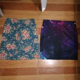 Pencil Skirt Galaxy Floral