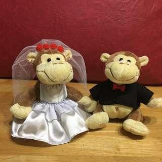 Wedding Monkeys Set Plush Soft Toy