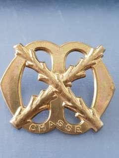 Genuine WW2 Royal Netherland Army Chasse Regiment Cap badge