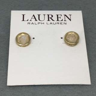 Ralph Lauren Sample Earrings 金色配天然水晶石閃石耳環