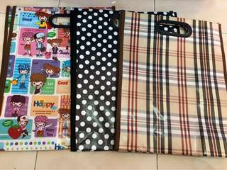 3pcs Hard plastic totebag