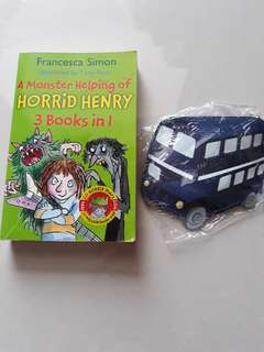Horrid Henry 3 books in 1 & coin pouch