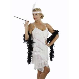 Beautiful and comfortable sequined flapper dresses (black and white available)