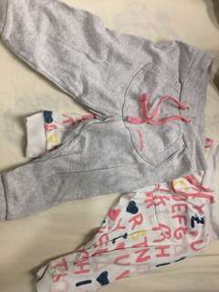 Miki baby Pants 6-12m 2 piece