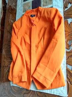 new blazer sunkist orange size L ( LD: fit to 100)