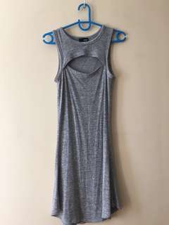Grey Cutout  Dress