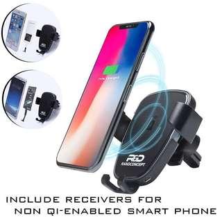 汽車用無線充電手機架連無線充電接收器 Car wireless charger phone holder