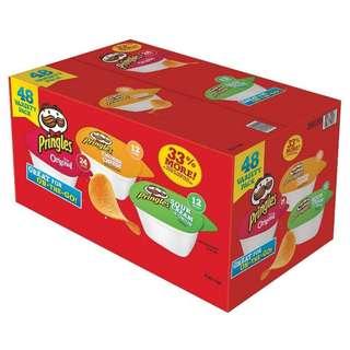 美國進口🇺🇸Pringles什錦味薯片(48小盒/箱) (包智能櫃)  (統一8/6出貨)