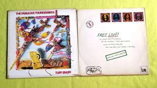FREE (Bad Company lead vocalist/Japan is Bassist) ● THE FABULOUS THUNDERBIRDS . live / tuff enuff. (buy 1 get 1 free )  vinyl record