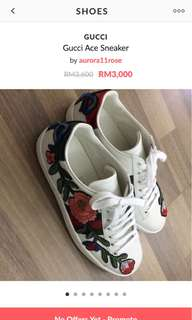 Gucci Ace Sneakers floral