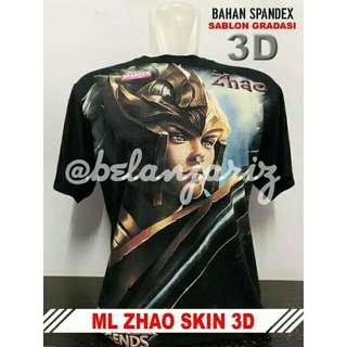 Kaos Distro 3D Mobile Legend Zhao Skin