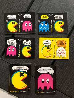 Pac-Man vintage stickers 50 pieces