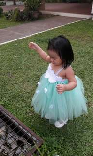 Mint green tutu dress