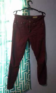 Aeropostale red high waisted jegging