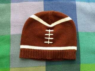 🚚 Mud Pie Football knit hat 12m-18m