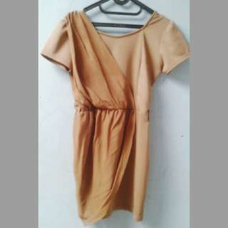 Wrap Chiffon Dress Baru