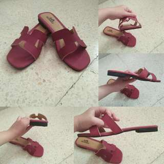 Sandal H*rmes Flat Premium