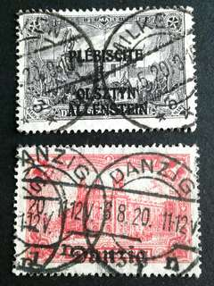 1902 German overprint stamps
