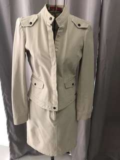 Elle denim jacket and skirt