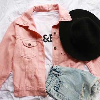 Baby Pink Oversize Jacket Jeans Zara