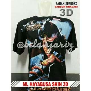 Kaos Distro 3D Mobile Legend Hayabusa Skin
