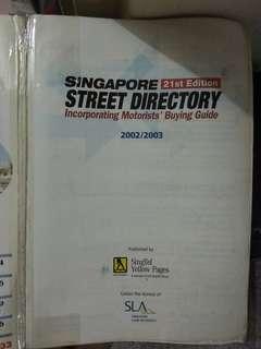 🚚 Singapore street directory, 21st edition. 2002/2003