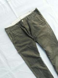 Size 32 Celana Chino Chinos Uniqlo Green Army not hnm