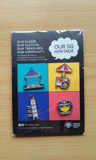 Our SG Heritage pins