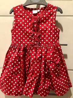 Blue Zoo Red polka dot dress